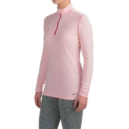 Hot Chillys Micro-Elite XT Base Layer Top - Zip Neck, Long Sleeve (For Women) in Pink/Razzle - Closeouts