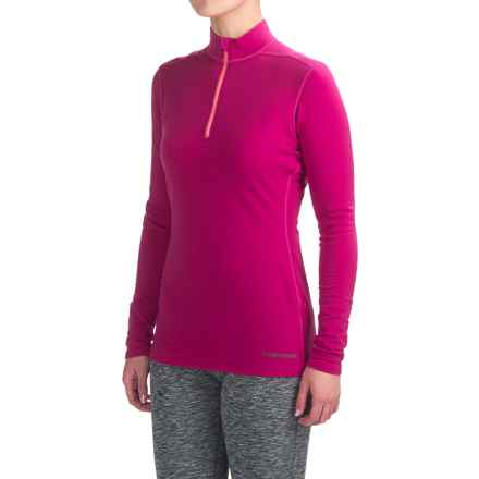 Hot Chillys Micro-Elite XT Base Layer Top - Zip Neck, Long Sleeve (For Women) in Razzle/Ltco - Closeouts