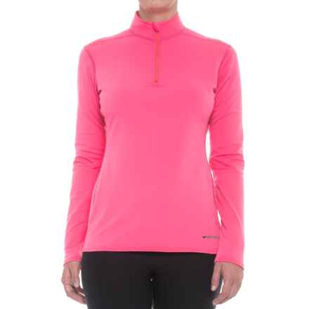 Hot Chillys Micro-Elite XT Base Layer Top - Zip Neck, Long Sleeve (For Women) in Rose - Closeouts