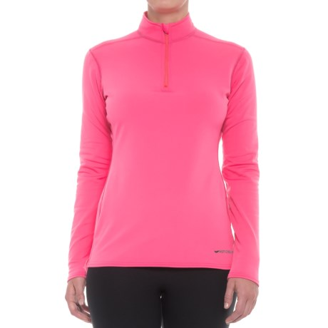 Hot Chillys Micro-Elite XT Base Layer Top - Zip Neck, Long Sleeve (For Women) in Rose