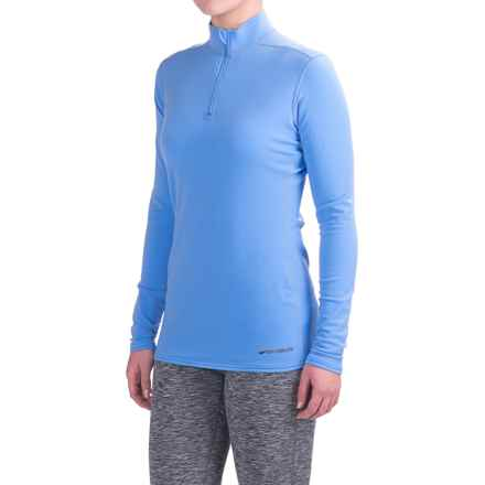Hot Chillys Micro-Elite XT Base Layer Top - Zip Neck, Long Sleeve (For Women) in Sky - Closeouts