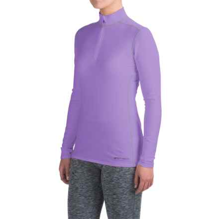 Hot Chillys Micro-Elite XT Base Layer Top - Zip Neck, Long Sleeve (For Women) in Violet - Closeouts