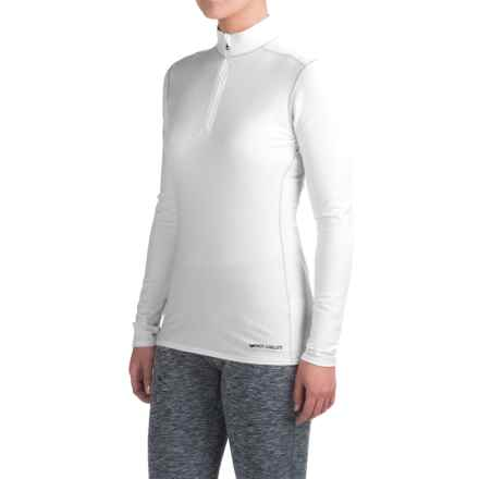 Hot Chillys Micro-Elite XT Base Layer Top - Zip Neck, Long Sleeve (For Women) in White - Closeouts