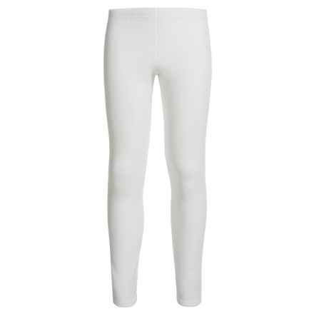 Hot Chillys Microfleece Base Layer Pants (For Kids) in White - Closeouts