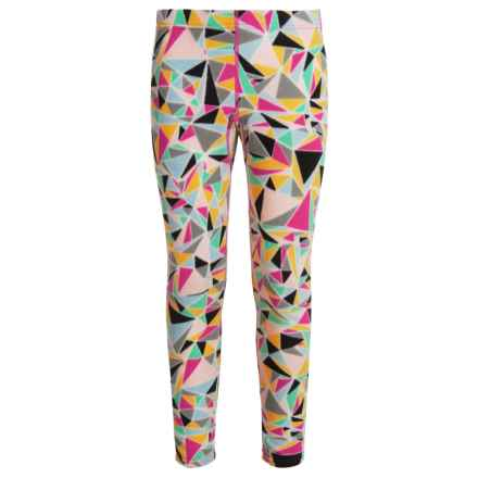 Hot Chillys Microfleece Printed Base Layer Pants(For Kids) in Shatter Prism - Closeouts
