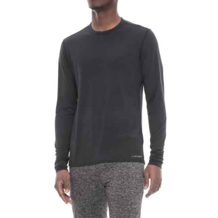 Hot Chillys Midweight Base Layer Top - Crew Neck, Long Sleeve (For Men) in Black - Closeouts