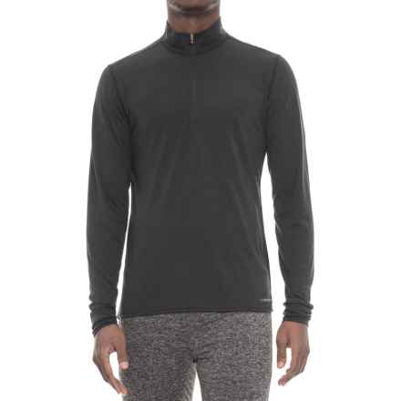 Hot Chillys Midweight Base Layer Top - Zip Neck, Long Sleeve (For Men) in Black - Closeouts