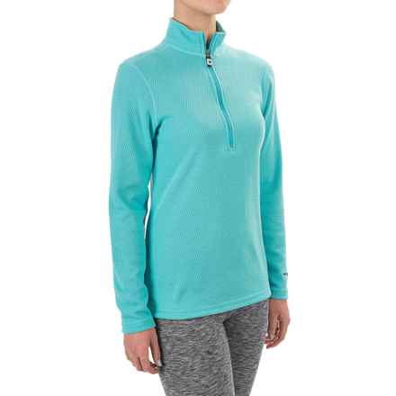 Hot Chillys MTB Pueblo Base Layer Mock Turtleneck - Zip Neck, Long Sleeve (For Women) in Surf - Closeouts