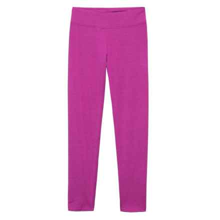 Hot Chillys MTF Cropped Base Layer Pants - UPF 30+ (For Girls) in Candyland Plum - Closeouts
