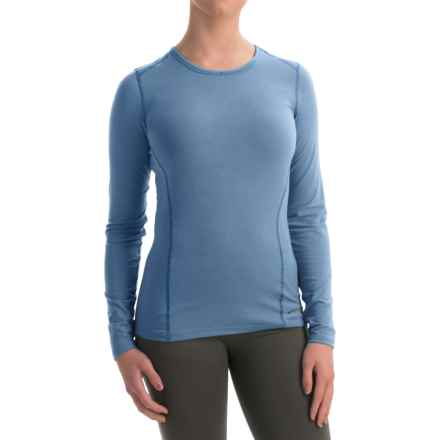 Hot Chillys MTF4000 Base Layer Top - Scoop Neck, Long Sleeve (For Women) in Sky - Closeouts