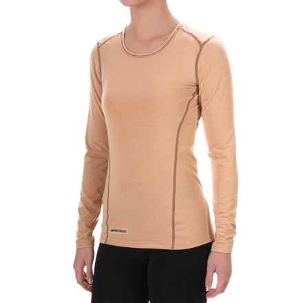 Hot Chillys MTF4000 Base Layer Top - Scoop Neck, Long Sleeve (For Women) in Tan - Closeouts
