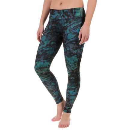 Hot Chillys MTF4000 Fiesta Printed Leggings (For Women) in Abalone - Closeouts