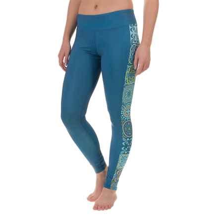 Hot Chillys MTF4000 Fiesta Printed Leggings (For Women) in Mediterannean - Closeouts