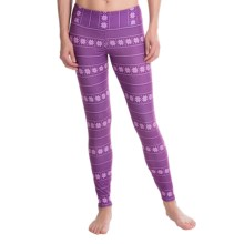 Hot Chillys MTF4000 Printed Leggings - Midweight (For Women) in Alpine Stripe - Closeouts