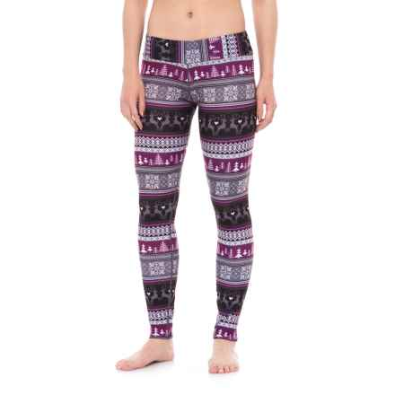 Hot Chillys MTF4000 Printed Leggings - Midweight (For Women) in Cabin Fever - Closeouts