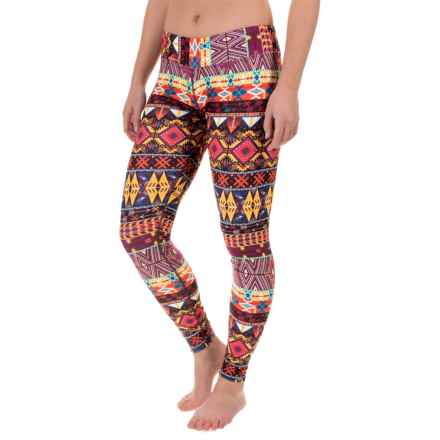 Hot Chillys MTF4000 Printed Leggings - Midweight (For Women) in Primitive Pop - Closeouts