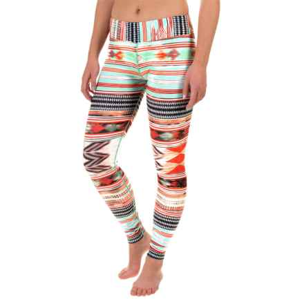 Hot Chillys MTF4000 Printed Leggings - Midweight (For Women) in Sacred Stripes - Closeouts