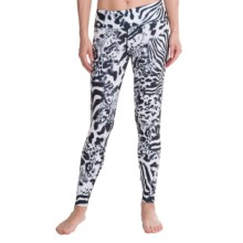 Hot Chillys MTF4000 Printed Leggings - Midweight (For Women) in Safari - Closeouts
