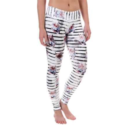 Hot Chillys MTF4000 Printed Leggings - Midweight (For Women) in Tiger Stripe - Closeouts
