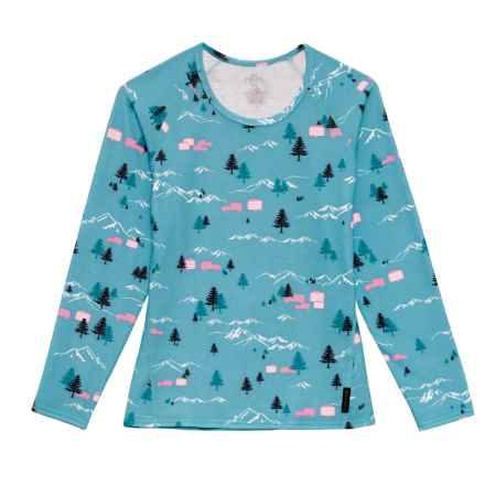 Hot Chillys Originals II Base Layer Top - Crew Neck, Long Sleeve (For Girls) in Glamping - Closeouts