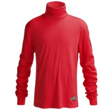 Hot Chillys Peachskins Base Layer Turtleneck - UPF 30+, Long Sleeve (For Little & Big Kids) in Red - Closeouts