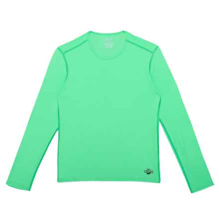 Hot Chillys Peachskins Crew Neck Base Layer Top - Long Sleeve (For Little and Big Kids) in Spring Green - Closeouts