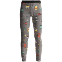 Hot Chillys Peachskins Print Base Layer Bottoms - Midweight (For Youth) in Bots/Charcoal - Closeouts