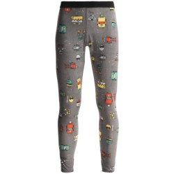 Hot Chillys Peachskins Print Base Layer Bottoms - Midweight (For Youth) in Bots/Charcoal