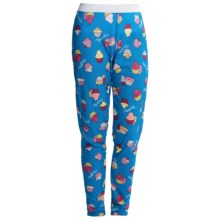 Hot Chillys Peachskins Print Base Layer Bottoms - Midweight (For Youth) in Cupcakes/Blue - Closeouts