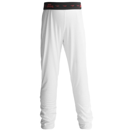 Hot Chillys Peachskins Print Base Layer Bottoms - UPF 30+, Midweight (For Youth) in Ornate/White