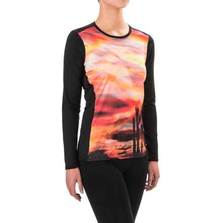 Hot Chillys Peachskins Print Base Layer Top - Midweight, Long Sleeve (For Women) in Arizone Sunset/ Black - Closeouts