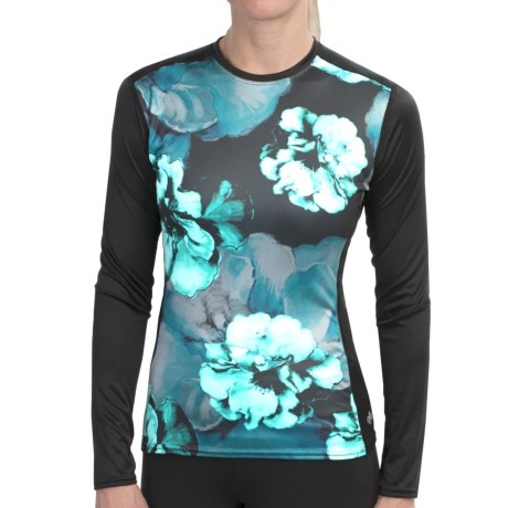 Hot Chillys Peachskins Print Base Layer Top - Midweight, Long Sleeve (For Women) in Evening Floral