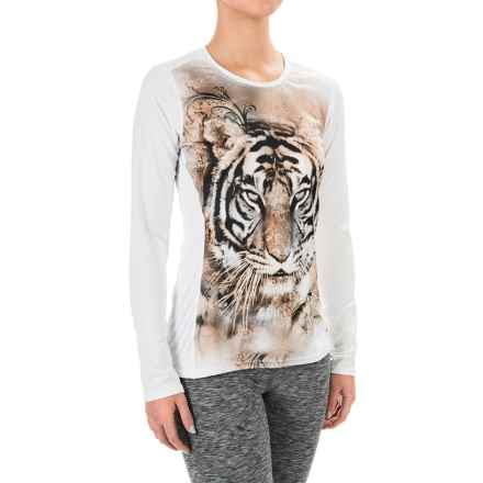 Hot Chillys Peachskins Print Base Layer Top - Midweight, Long Sleeve (For Women) in Purrfect/White - Closeouts