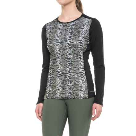 Hot Chillys Peachskins Print Base Layer Top - Midweight, Long Sleeve (For Women) in Wild/Black - Closeouts