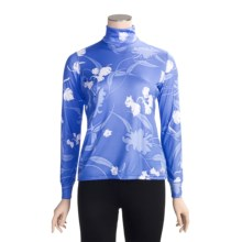 Hot Chillys Peachskins Print Turtleneck - Midweight Base Layer, Long Sleeve (For Women) in Divinity - Closeouts