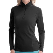 Hot Chillys Pepper Bi-Ply Base Layer Top - Midweight, Zip Neck, Long Sleeve (For Women) in Black - Closeouts