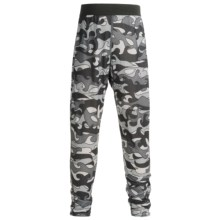 Hot Chillys Pepper skins Print Base Layer Bottoms - Midweight (For Little and Big Kids) in Surf Night - Closeouts