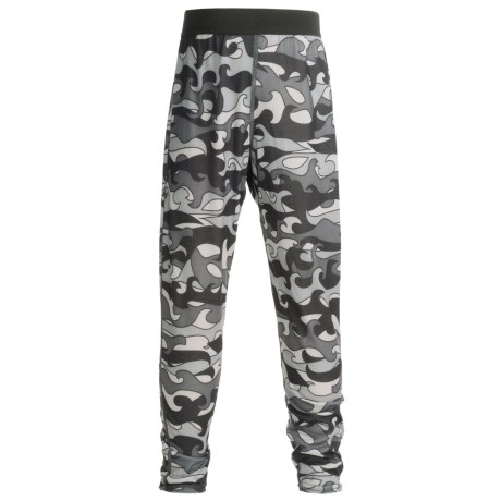 Hot Chillys Pepper skins Print Base Layer Bottoms - Midweight (For Little and Big Kids)