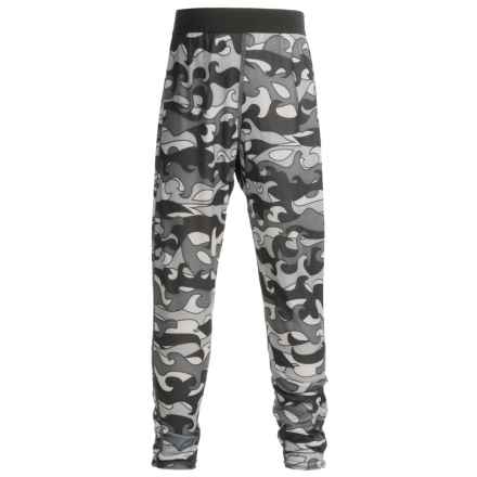 Hot Chillys Pepper skins Print Base Layer Pants - Midweight (For Little and Big Kids) in Surf Night - Closeouts