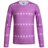 Hot Chillys Pepper Skins Printed Base Layer Top - UPF 30+, Long Sleeve (For Little and Big Kids)