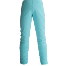 Hot Chillys Pepper Stretch Base Layer Bottoms - Midweight (For Little and Big Kids) in Surf - Closeouts