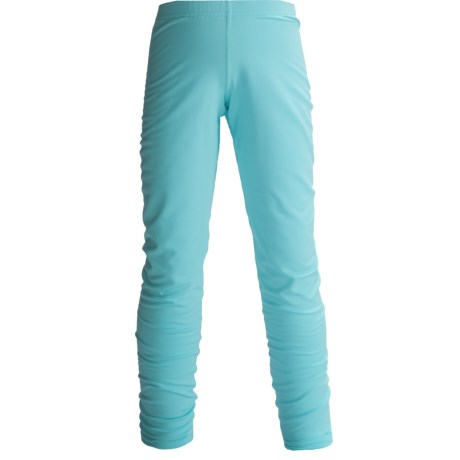 Hot Chillys Pepper Stretch Base Layer Bottoms - Midweight (For Little and Big Kids) in Surf
