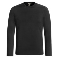 Hot Chillys Pepper Stretch Base Layer Top - Midweight, Crew Neck, Long Sleeve (For Men) in Black - Closeouts