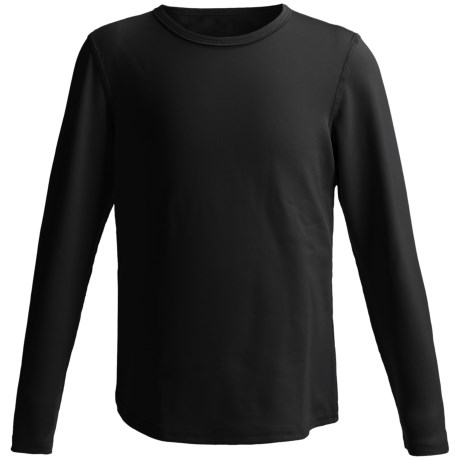 Hot Chillys Pepper Stretch Base Layer Top - Midweight, Long Sleeve (For Little and Big Kids) in Black