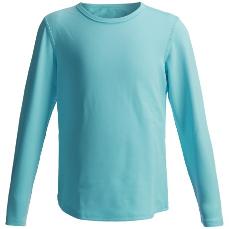 Hot Chillys Pepper Stretch Base Layer Top - Midweight, Long Sleeve (For Little and Big Kids) in Surf