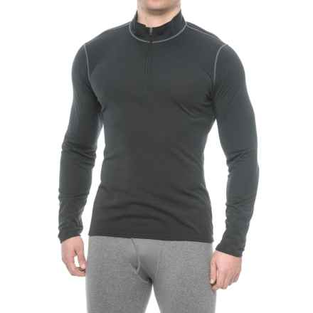 Hot Chillys Pepper Therm Base Layer Top - Zip Neck, Long Sleeve (For Men) in Black - Closeouts