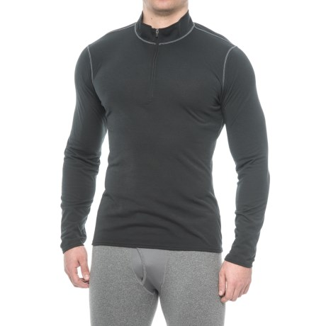 Hot Chillys Pepper Therm Base Layer Top - Zip Neck, Long Sleeve (For Men) in Black