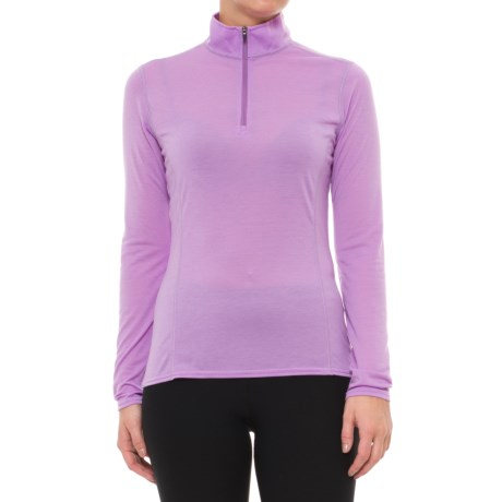Hot Chillys Pepper Therm Base Layer Top - Zip Neck, Long Sleeve (For Women) in April