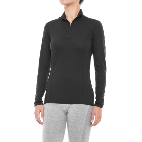 Hot Chillys Pepper Therm Base Layer Top - Zip Neck, Long Sleeve (For Women) in Black