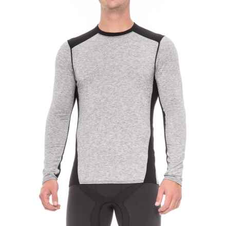 Hot Chillys Pepper Wool-Blend Stretch Base Layer Top - UPF 30+ Long Sleeve (For Men) in Heather Grey/Black - Closeouts
